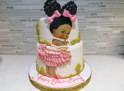 Afro Baby Cake